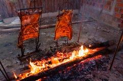 Brazilian Barbecue also known as Churrasco made by Gauchos, Braz Royalty Free Stock Photos