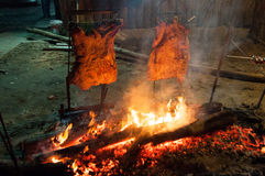 Brazilian Barbecue also known as Churrasco made by Gauchos, Braz Royalty Free Stock Images