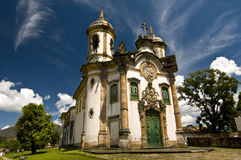 Brazilian Baroque architecture Stock Image