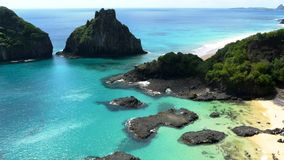 Brazilian beach. Bahia do Porcos, Fernando Noronha Royalty Free Stock Photography