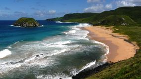 Brazilian beach. Praia de Leao, Fernando Noronha,  Royalty Free Stock Photos