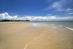 Brazilian beach coast on a sunny day in Corumbau, Bahia, Brazil. February, 2017. Brazilian beach coast on a sunny day in Corumbau, Bahia, Brazil stock photos