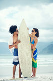 Brazilian beach couple Royalty Free Stock Photo