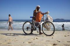 Brazilian Beach Vendor Rio de Janeiro Brazil Stock Photo