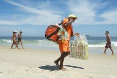 Brazilian Beach Vendor Rio de Janeiro Brazil Royalty Free Stock Photos