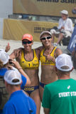 Brazilian beach volley player Taiana Lima and Talita Antunes, du Royalty Free Stock Photo