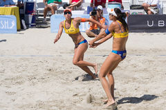 Brazilian beach volley player Taiana Lima and Talita Antunes, du Royalty Free Stock Image