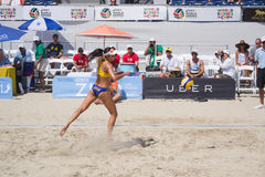 Brazilian beach volley player Talita Antunes during the ASICS Wo Royalty Free Stock Image