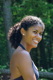 Brazilian beauty. Beautiful brazilian woman having a laugh Royalty Free Stock Image