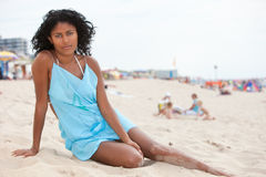 Brazilian beauty on the beach royalty free stock images