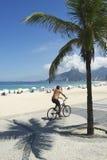 Brazilian Bike Rider Ipanema Beach Rio de Janeiro Stock Photography