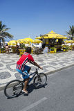 Brazilian Bike Rider Ipanema Rio Stock Image