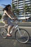 Brazilian Bike Rider Ipanema Rio Stock Images