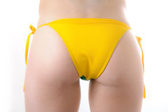Brazilian Bikini Bottom Model Topless Stock Photography