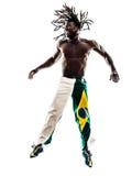 Brazilian  black man silhouette Royalty Free Stock Image