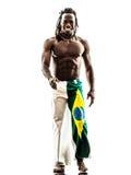 Brazilian  black man walking smiling Stock Photography