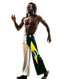 Brazilian  black man walking smiling Royalty Free Stock Photography