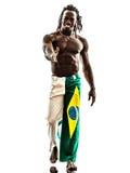Brazilian  black man walking smiling saluting handshake Royalty Free Stock Images