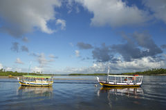 Brazilian Boats Tranquil Waters Nordeste Bahia Stock Photography