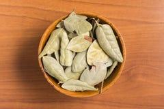 Brazilian Boldo Leaves into a bowl stock photo