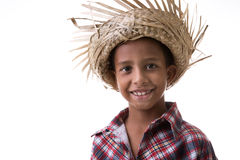 Brazilian boy wearing costume for Brazilian Junina Party (Festa Junina) Royalty Free Stock Image