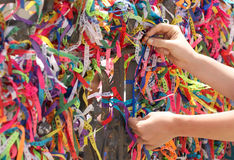 Brazilian bracelets tied as ex voto Stock Images