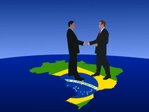 Brazilian business men meeting Royalty Free Stock Photo