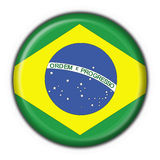 Brazilian button flag. Round shape Royalty Free Stock Photo