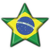 Brazilian button star flag. Brazilian button flag star shape Royalty Free Stock Photos