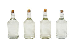 Brazilian cachaca bottles. Isolated on white background with path Royalty Free Stock Photos