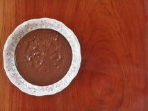 Brazilian candy Brigadeiro known as `brigadeiro de colher`. royalty free stock images