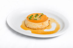 Brazilian Caramel Flan Stock Photography