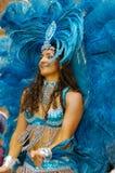 Brazilian Carnival. A very nice Brazilian carnival dancer at Rio de Janeiro Stock Photos