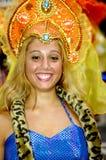 Brazilian Carnival. A very nice Brazilian carnival dancer at Rio de Janeiro Stock Photo