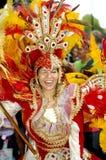 Brazilian Carnival. A very nice Brazilian carnival dancer at Rio de Janeiro Royalty Free Stock Photos