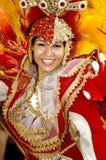 Brazilian Carnival. A very nice Brazilian carnival dancer at Rio de Janeiro Stock Images