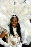 Brazilian Carnival. A very nice Brazilian carnival dancer at Rio de Janeiro Royalty Free Stock Photo