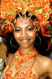 Brazilian Carnival. A very nice Brazilian carnival dancer at Rio de Janeiro Royalty Free Stock Image