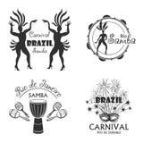 Brazilian Carnival big set of  logo and emblem Stock Images