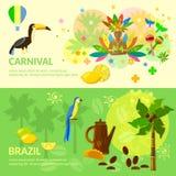 Brazilian Carnival  Brazil banners Brazilian culture Royalty Free Stock Image