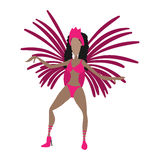 Brazilian carnival girl cartoon icon Stock Photo
