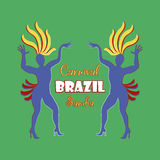 Brazilian Carnival logo and emblem Stock Photography