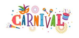 Brazilian Carnival, music festival, masquerade flyer, vector design. Brazilian Carnival, music festival, masquerade flyer template, vector design stock illustration