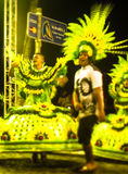Brazilian Carnival. Parade of the Ita Lions samba school on the avenue in Ilhabela, Brazil, 02/28/2017. Artistic photo with select Stock Images
