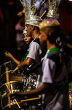 Brazilian Carnival. Parade of the Ita Lions samba school on the avenue in Ilhabela, Brazil, 02/28/2017. Artistic photo with select Stock Photos