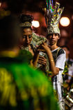 Brazilian Carnival. Parade of the Ita Lions samba school on the avenue in Ilhabela, Brazil, 02/28/2017. Artistic photo with select Royalty Free Stock Images