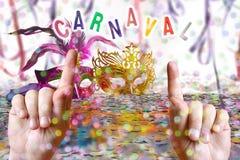 Brazilian Carnival party time Stock Photo