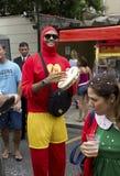 Brazilian carnival street parade in Sao Paulo Royalty Free Stock Photography