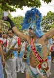 Brazilian carnival street parade in Sao Paulo Stock Image