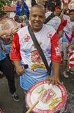 Brazilian carnival street parade in Sao Paulo Royalty Free Stock Photos
